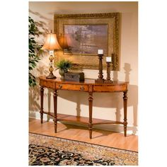 Butler Specialty Connoisseur S Demilune Brown Console Table Sofa End Tables Entryway Furniture Deals