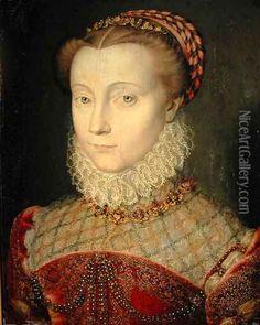 Date unknown - Portrait of Marguerite de Valois, Queen of Navarre (1553-1615) - clouet school? Description from pinterest.com. I searched for this on bing.com/images