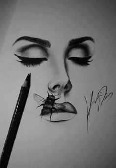 Lana Del Ray_ even looks gorg with a bee on her juicy lips! Pencil Sketches Easy, Pencil Drawings For Beginners, Drawing Sketches, Art Drawings, Drawing Faces, Sketching, Lana Del Rey Tattoos, Ink Link, Lana Del Ray