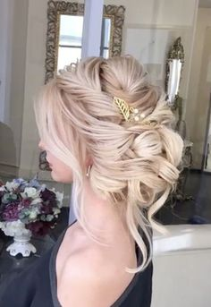 Best Wedding Hairstyle With Mid Length Hair Unique Wedding Hairstyles, Fancy Hairstyles, Bride Hairstyles, Headband Hairstyles, Hairstyle Ideas, Bangs Hairstyle, Hairstyle Wedding, Short Hairstyle, Elegant Wedding Hair