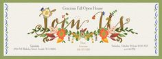 Our fabulous Fall Open House is on Saturday, Oct. 10th, 2015 from 10am-6pm. Please stop by to check out our amazing fall decor items and other goodies we've saved up for this special event. Raffles for hosting gifts and a FREE one-hour design consultation with Gracious owner Tracy Reimers will take place. We hope to see you there!