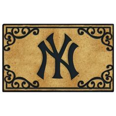 """New York Yankees Door Mat by The Memory Company. $34.99. Coir Fiber Door Mat. 24"""" tall by 39"""" wide.. Features team logo, mascot. Beautifully crafted in durable coir fiber."""