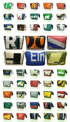 Minha marca de bolsas favorita: Freitag / É suíça e as bolsas são feitas com lona de caminhão (tipo europeu) e cada uma é única!