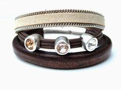 Super mooie armbanden vaan leer en suède. verkrijgbaar in verschillende kleuren en maten bij Milouzzi.nl
