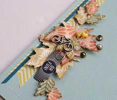 Fun little embellishment idea. Use CTMH scraps and bling to make same idea with any theme.