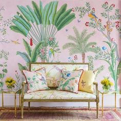 This is what happens when fashion's favourite new label teams up with legendary wallpaper designers - Vogue Living