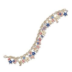 Ultimate American Patriotic Engraved Sterling Silver Charm Bracelet Jewelry by The Bradford Exchange Bradford Exchange http://www.amazon.com/dp/B002ED9J3A/ref=cm_sw_r_pi_dp_R81fub1ZTDC61