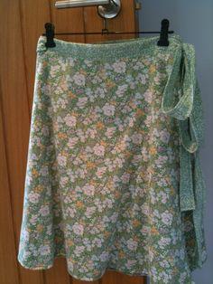 Wrap-around reversible skirt