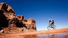 Slickrock Bike Trail in Moab, Utah is the most famous biking trail in the world. Gravity-defying angles make the route more akin to a roller coaster ride than a bike trail.