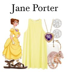 A fashion look from July 2017 featuring beige dress, strap sandals and leather tote. Jane Porter, Tarzan, Lord & Taylor, Polyvore Fashion, Style Inspiration, Sage, Toms, Kate Spade, Outfits