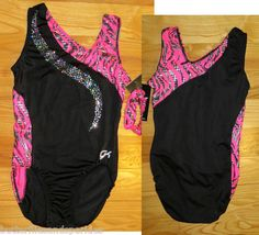 New GK Elite Gymnastics Leotard Size Adult Small A s as Girls Pink Zebra Leo | eBay
