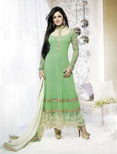 Z Fashion Trend: DRISHTI DHAMI IN DESIGNER STRAIGHT SUIT