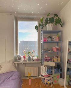 Cute Room Decor, Pastel Room Decor, Small Room Decor, Pretty Room, Room Ideas Bedroom, Bedroom Inspo, Indie Bedroom Decor, Aesthetic Room Decor, Dream Rooms