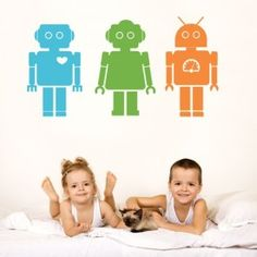 Cheap vinyl decal, Buy Quality robot wall stickers directly from China sticker for kids room Suppliers: DIY Robots Wall Sticker Vinyl Decals Colorful for Teen Boys Bedroom Wall Decal Wall Stickers for Kids Rooms Decor Wall Decals For Bedroom, Boys Bedroom Decor, Kids Wall Decals, Wall Stickers, Removable Vinyl Wall Decals, Vinyl Wall Art, Sticker Vinyl, Robot Nursery, Robots For Kids