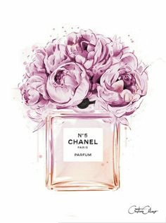 N°5 Chanel Perfume Illustration