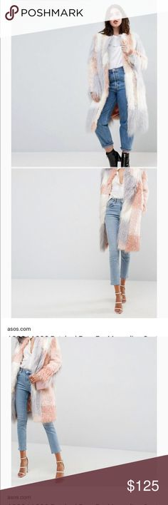 Mongolian Faux Fur ASOS Curve Mongolian Faux Fur Patchwork Coat. NWT !! Fits size 10-14 ASOS Curve Jackets & Coats