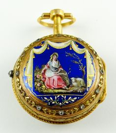Jean Robert Soret (Geneva, b.1731-d.1799, active 1740-80, descended from a line of watchmakers), enameled gold fusee