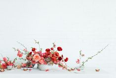 A One-To-One with @sarahwinward - Road Trip Pt 2 || red ranunculus || pink roses || tea lights // photo by @chikaeoh