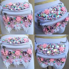 Sweet Rose Fanny Pack To custom order your own fanny pack please email us at electriclaundry@gmail.com