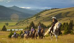 Are you ready for a Luxury Adventure in Big Sky Country? The Ranch at Rock Creek is an all inclusive luxury resort offering glamping under the stars. Horseback Riding Trails, Trail Riding, Horse Riding, Western Riding, Montana Cowgirl, Ranch Vacations, Dream Vacations, Vacation Spots, Montana Ranch