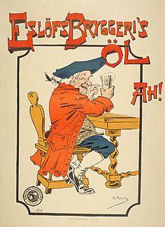 Emil Äberg -1896 Vintage Posters, Comic Books, Beer, Ads, Comics, Root Beer, Poster Vintage, Ale, Cartoons