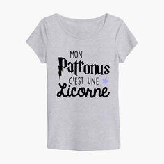 """Tshirt Harry Potter """"mon patronus c'est une licorne"""""""