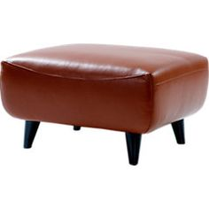 Shop For A Cindy Crawford Home Midtown East Terracotta Leather Ottoman At  Rooms To Go. Find Leather Ottomans That Will Look Great In Your Home And ...