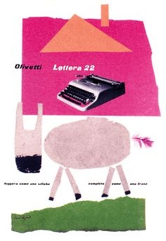 Olivetti Lettera 22 (typewriter) Poster — designed by Paul Rand