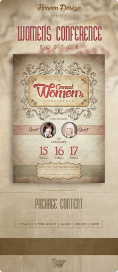 womens conference flyer design page 1