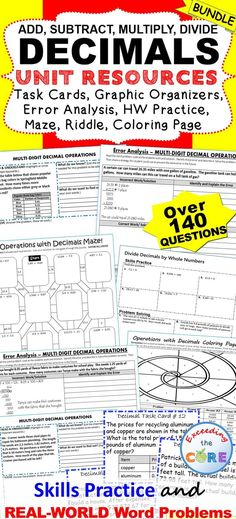 ORDER OF OPERATIONS Error Analysis Task Cards Graphic Organizers