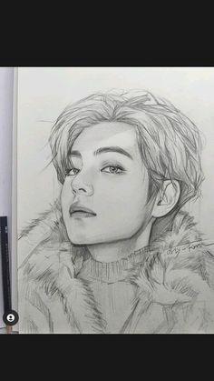 Pencil Drawings Of Girls, Kpop Drawings, Art Drawings For Kids, Art Drawings Sketches Simple, Realistic Drawings, Pencil Sketch Portrait, Art Painting Gallery, Chibi Wallpaper, Anime Character Drawing
