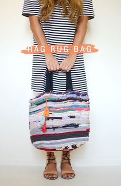 diy: rag rug bag