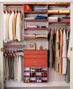 closet organization inspiration for our master bedroom