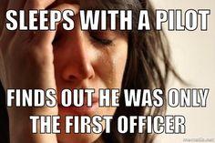 First world flight attendant problems.