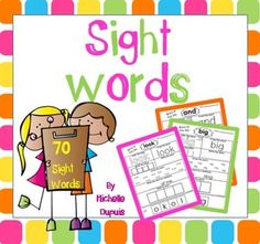 Sight Words : Sight word printable activities - Sight words represent approximately 50% of all printed text. When students know their sight words, reading becomes much easier.