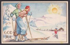 Cranner Christmas Cards, Christmas Postcards, Norway, Auction, Painting, God, Christmas E Cards, Dios, Xmas Cards