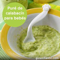Un sencillo puré de calabacín para los bebés a partir de 5-6 meses de edad http://www.guiainfantil.com/recetas/pures-para-bebes/pure-de-calabacin-para-bebes-y-ninos/