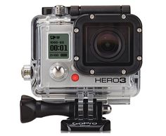GoPro Hero3.  Smaller, lighter, and more powerful, GoPro's latest offering in the hotly contested mini HD video camera market, the Hero3 has arrived right on time. The wi-fi enabled full HD model captures 4K video at 15fps all the way down to 1080p at 30 fps and feature a sharper lens that's 50% better in low light than its predecessor the Hero2. Improvements have also been made to audio quality.