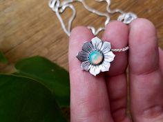 Ethiopian Opal Wildflower pendant. Natural Opal set in