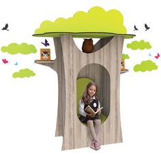 What is not to love about a hollow tree? Children will be able to immerse themselves in their favourite book in our magical Hollow Tree Nook den! x x (including decorative vinyl foliage, birds and butterflies) Reading Den, Reading Nooks, Public Library Design, Kindergarten Design, Tree Shapes, Classroom Design, Funky Furniture, Tree Decorations, Nursery
