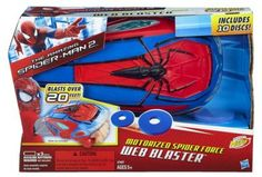 Marvel The Amazing Spider-Man 2 Motorized Spider Force Web Blaster Holiday Deals, Holiday Fun, Legos, Toys For Boys, Kids Toys, Power Rangers Figures, Pink Football, Spiderman Web, Black Cat Marvel