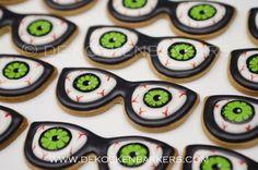Eyeball, glasses, Halloween, hangover cookies