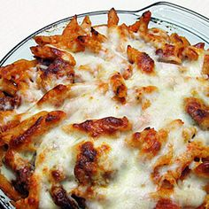 Baked Ziti with Italian Sausage. .....The perfect pasta for a cold night, with gooey cheese, spicy sausage and crusty pasta edges-