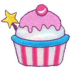 Cupcake Iron-On Applique