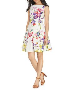 Women | Dresses | Floral Fit-and-Flare Dress | Hudson's Bay