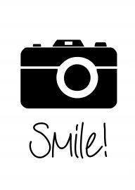 Smile | * Spreuken | Camera | Zwart wit