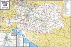 Railway Map of the Austro-Hungarian Empire (1890)