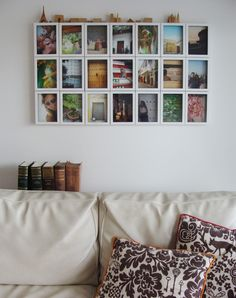 Good idea to hang pictures on the wall.. (by http://www.casachaucha.com.ar/)