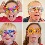 These paper glasses are super fun!!  Great idea for an after-school craft or for a photo shoot with the kids.