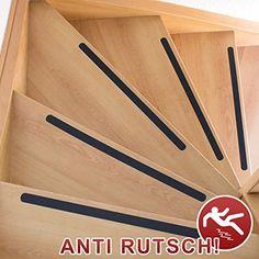 Anti-Rutsch-Streifen / 95 x 3 cm / 10 St�ck / schwarz / selbstklebend / f�r Sicherheit beim Treppensteigen